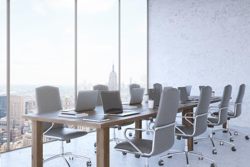 Взгляд Нью-Йорка от окна офиса бесплатная иллюстрация