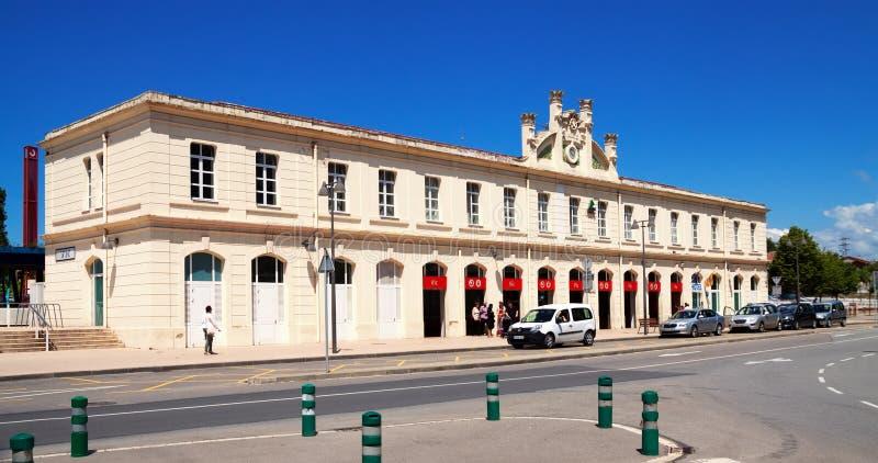 Взгляд дня железнодорожного вокзала в Vic стоковое изображение