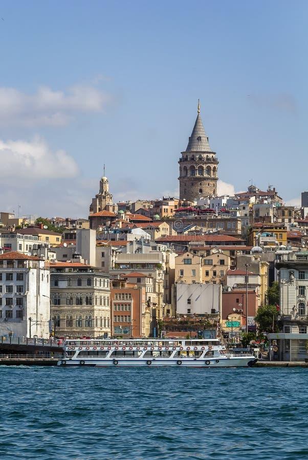Взгляд области Стамбула Beyoglu стоковое изображение rf
