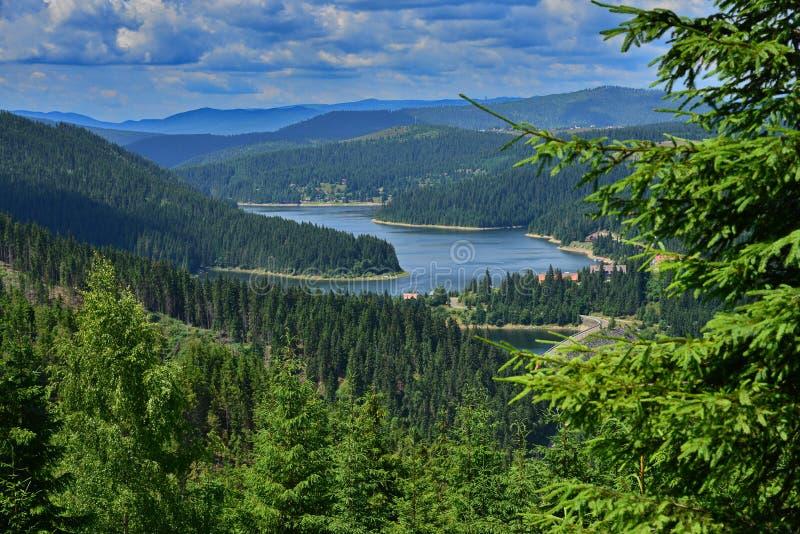 Взгляд озера и гор Fantanele стоковые изображения