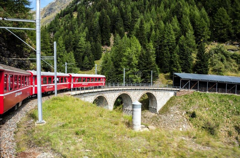 Взгляд озера и долины в швейцарце Alpes стоковые изображения