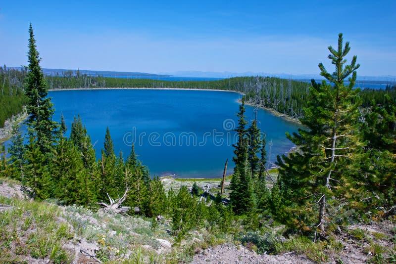 Взгляд озера Йеллоустон стоковые фотографии rf