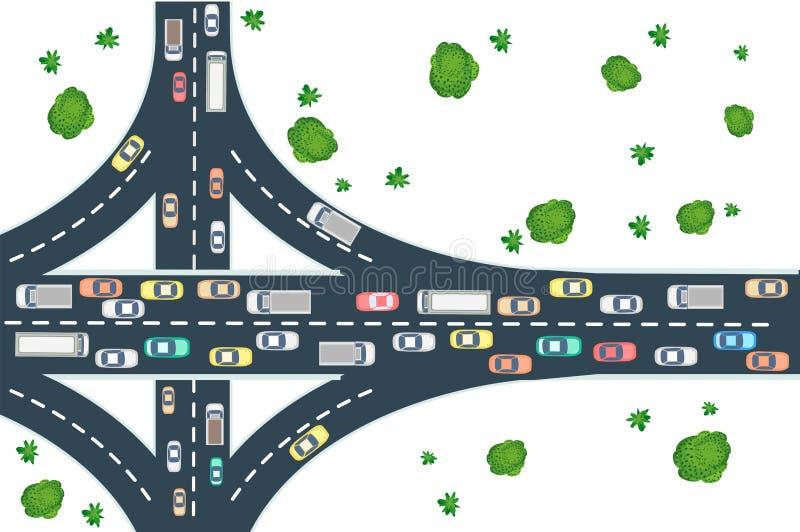 Взгляд дороги шоссе иллюстрация вектора