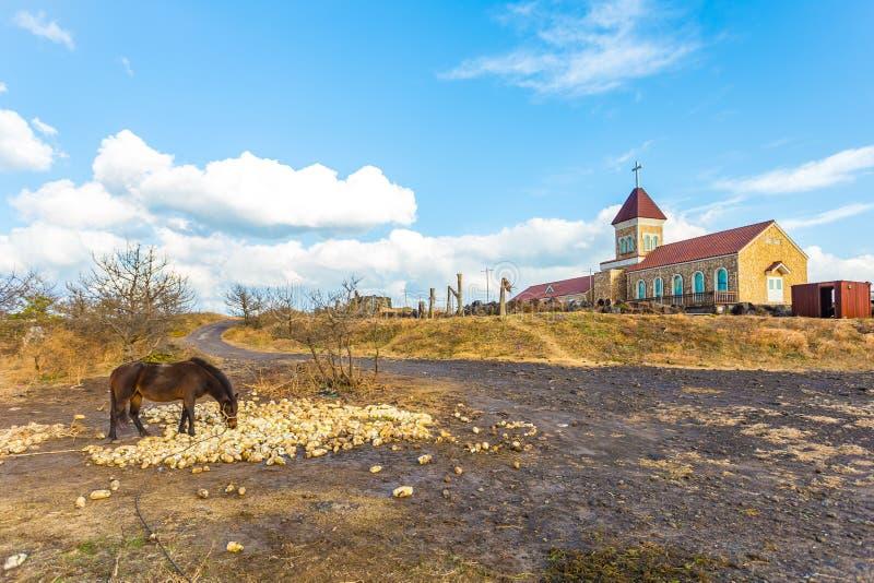 Взгляд острова Jeju горы Seopjikoji, Южной Кореи стоковое изображение
