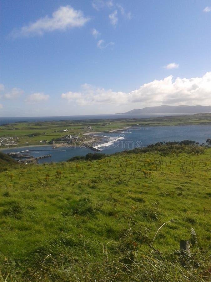 Взгляд острова Rathlin стоковые изображения rf
