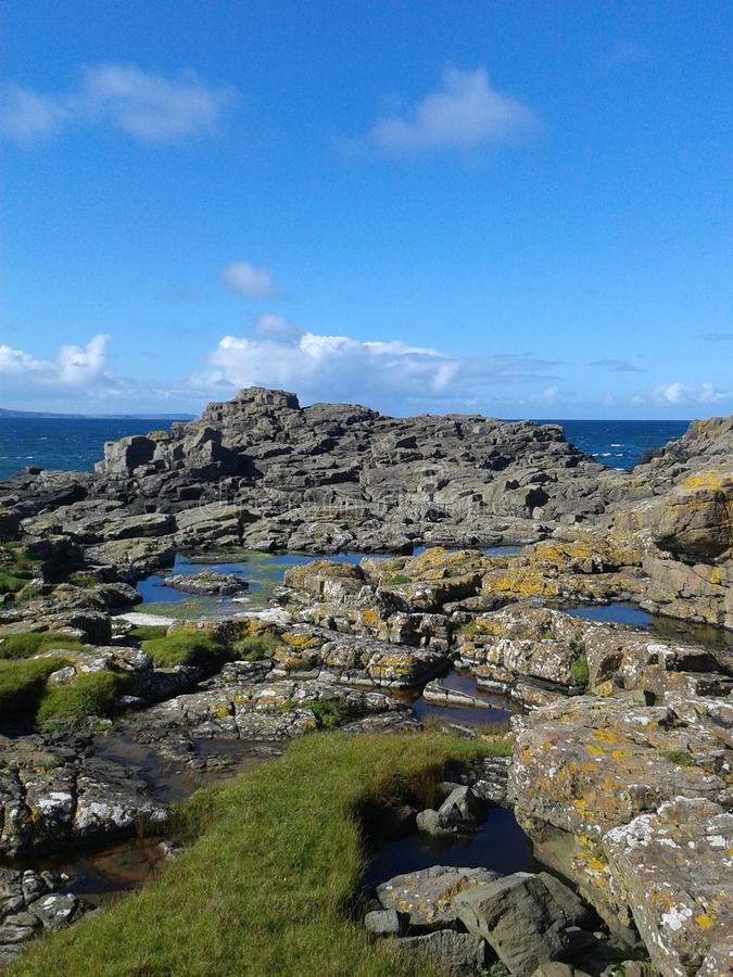 Взгляд острова Rathlin стоковое фото rf