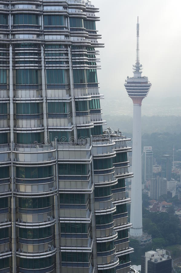 Взгляд от Башен Близнецы Petronas стоковое изображение rf