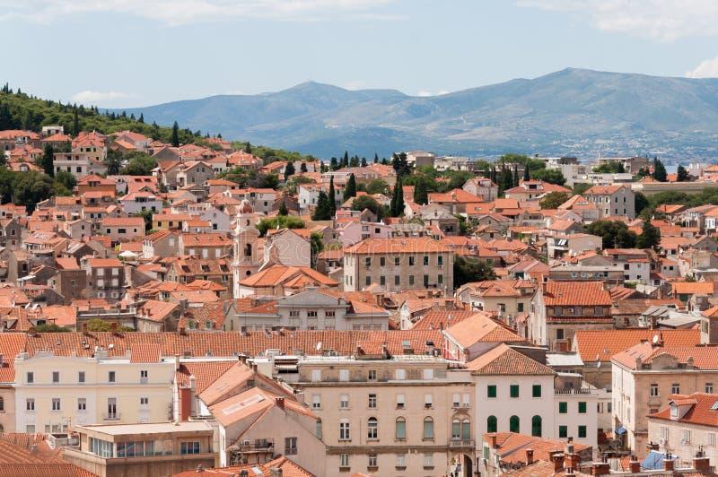 Взгляд от башни в дворце Diocletian, разделение, Хорватия стоковые фотографии rf