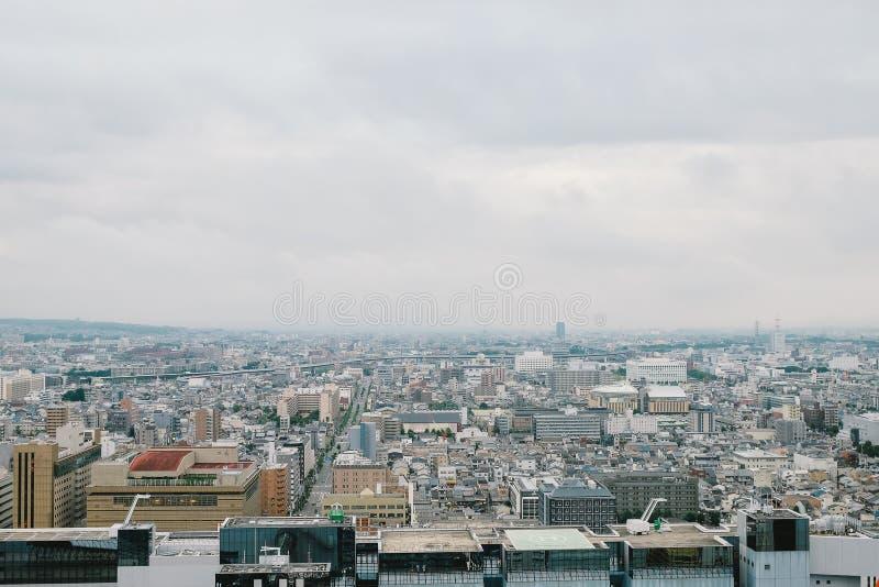 Взгляд от башни Киото в Киото, Японии стоковое фото rf