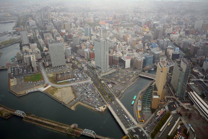 Взгляд от башни ориентир ориентира, Иокогама, Японии стоковые фотографии rf