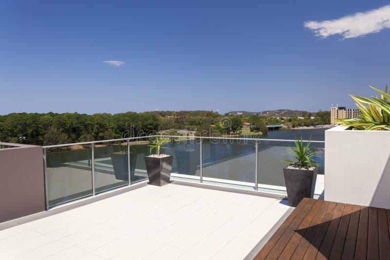 Взгляд от балкона стоковая фотография rf