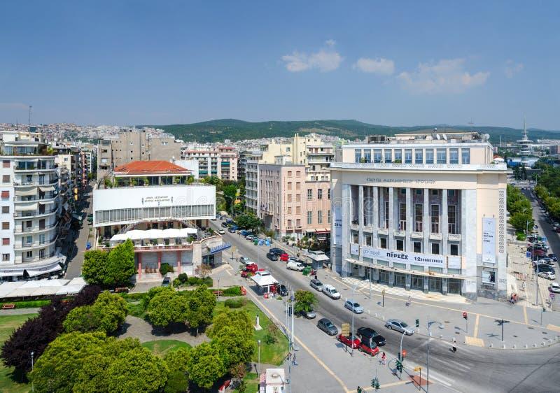Взгляд от белой башни на Thessaloniki, Греции стоковое изображение rf