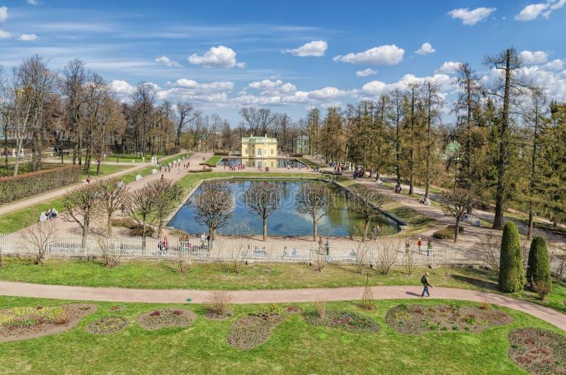 Взгляд от галереи Камерона в парке Катрина в Tsarsko стоковые фотографии rf