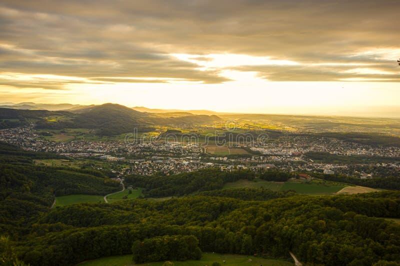 Взгляд от горы Gempen стоковое изображение rf