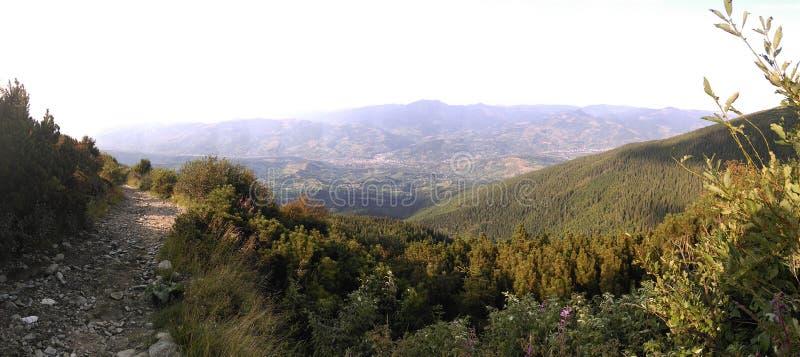 Взгляд от гор Rodna стоковое изображение