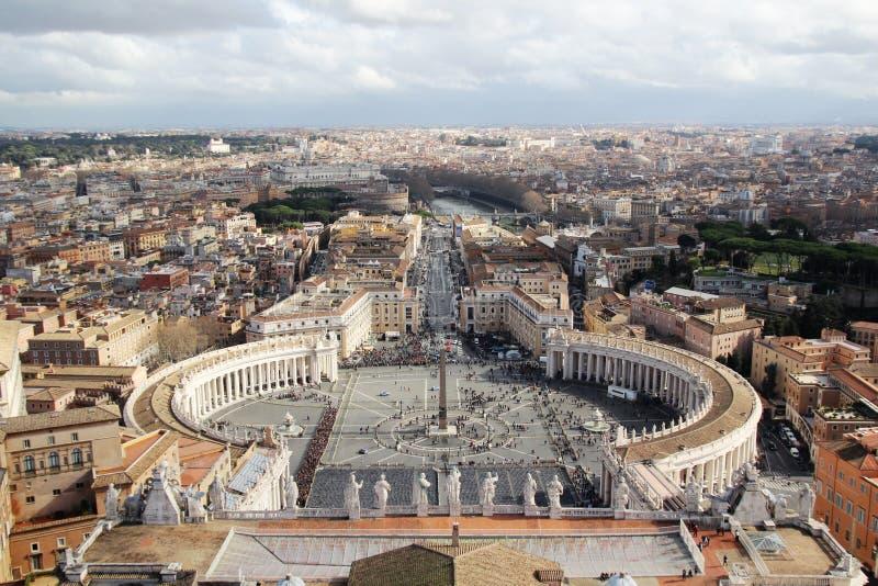 Взгляд от куполка собора Ватикана St Peter стоковое изображение rf