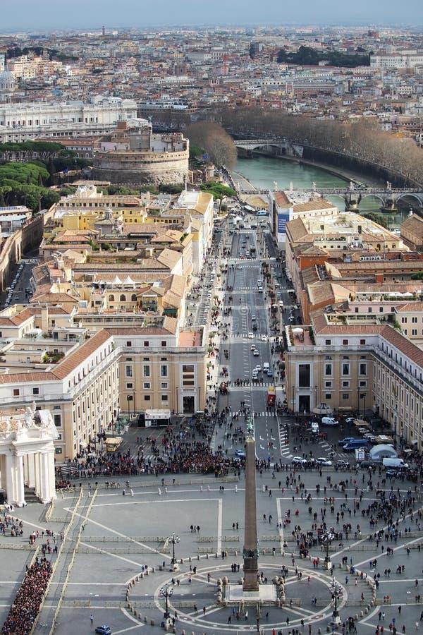 Взгляд от куполка собора ` s Ватикана St Peter стоковое изображение