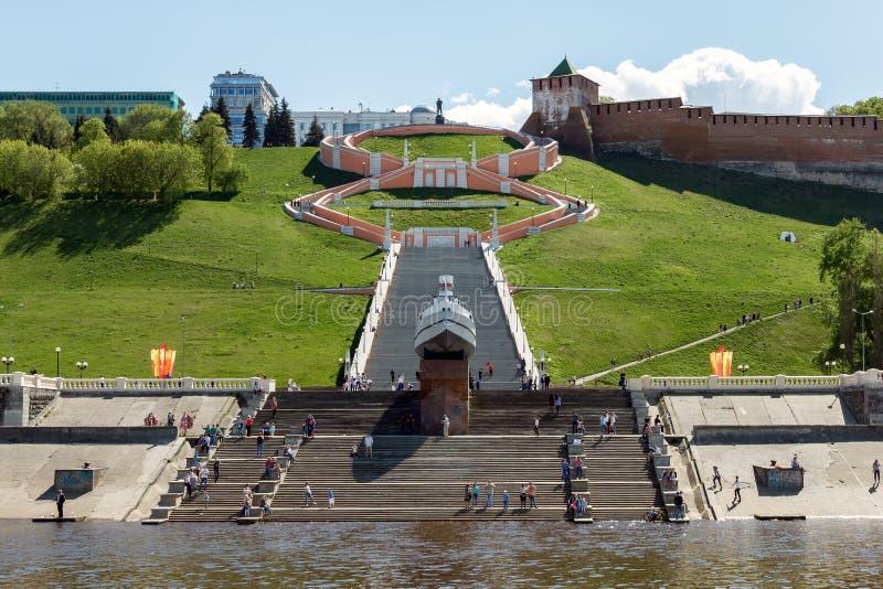 Взгляд от Рекы Волга на визированиях Nizhny Novgorod в Victo стоковые изображения