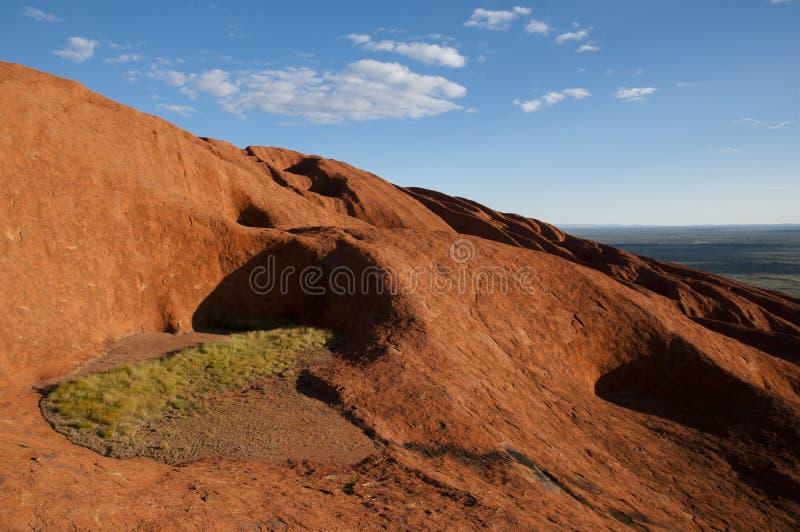 Взгляд от утеса Ayers - Uluru - Австралии стоковая фотография