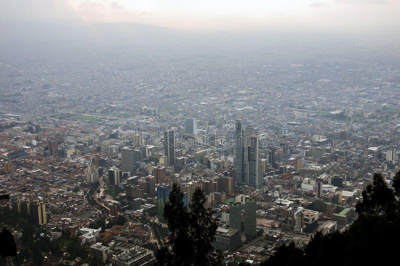 Взгляд от холма Monserrate, Bogot, Колумбии стоковые изображения