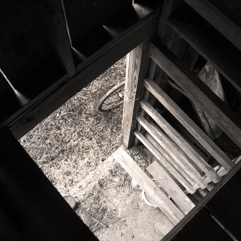 Взгляд от чердака амбара, Monotone стоковая фотография rf