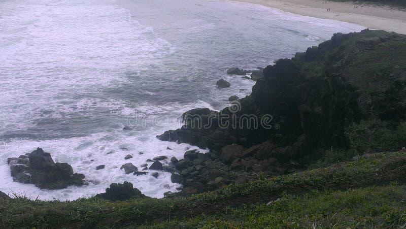 Взгляд от headland стоковые фотографии rf