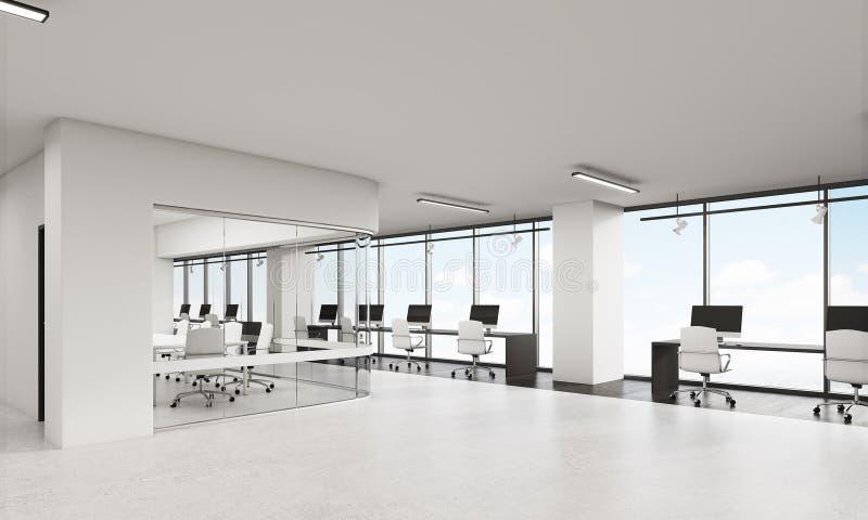 Взгляд офиса с конференц-залом округленных углов бесплатная иллюстрация