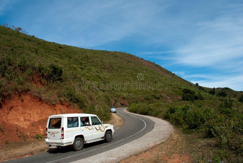 Взгляд долины Araku сценарный стоковые фотографии rf