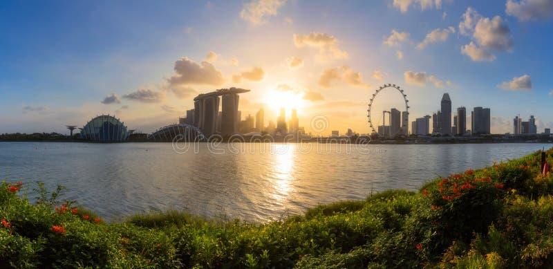 Взгляд панорамы города Сингапура стоковое изображение