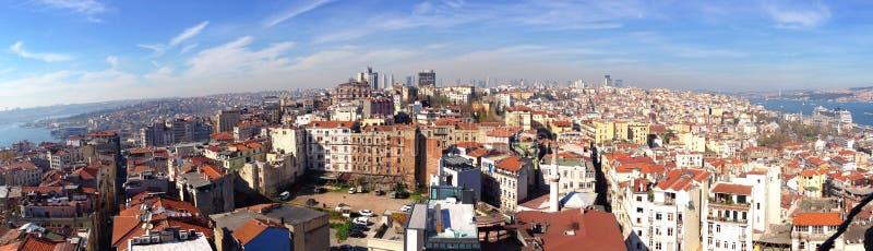 Взгляд панорамы европейской стороны Стамбула стоковые изображения