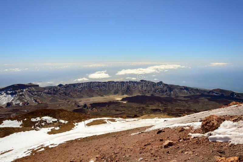 Взгляд панорамы от горы Teide стоковое фото