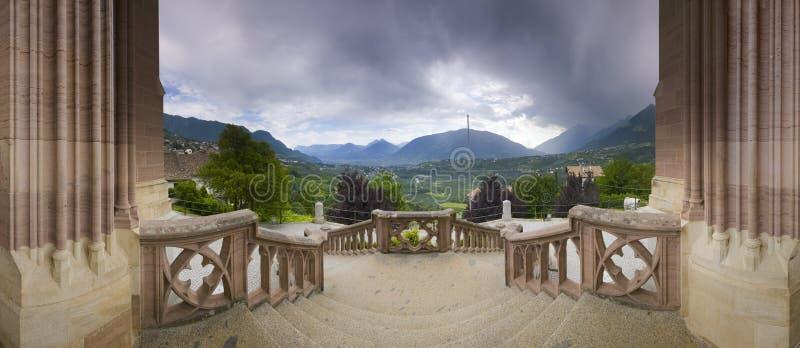Взгляд панорамы от scenna мавзолея стоковая фотография rf