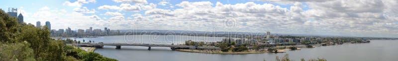 Взгляд панорамы Перта, Австралии стоковое фото