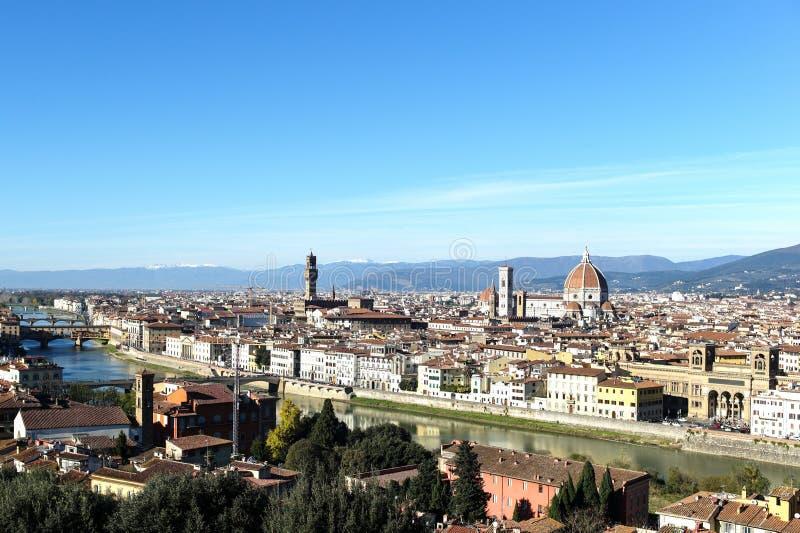 Взгляд панорамы Флоренса стоковая фотография rf