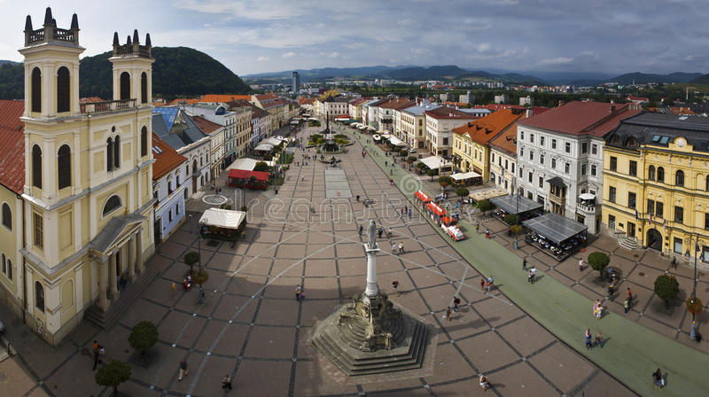 Взгляд панорамы Banska Bystrica. стоковое изображение rf