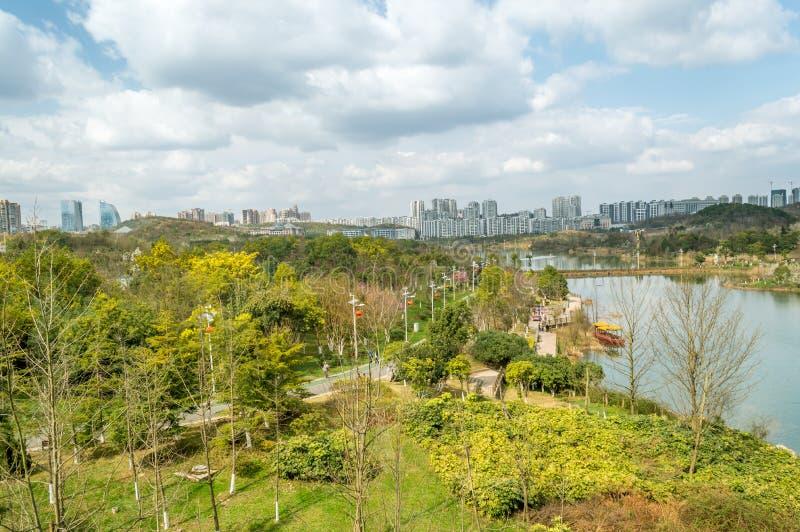 Взгляд 2 парка центра city†GuiYang» стоковые изображения