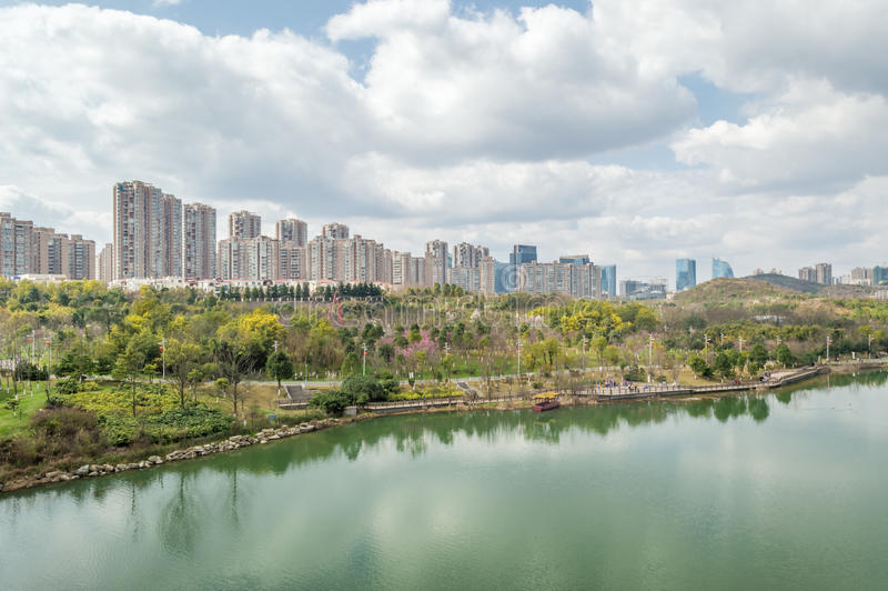 Взгляд 3 парка центра city†GuiYang» стоковые изображения