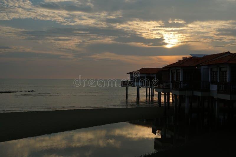 Взгляд пейзажа захода солнца стоковое изображение rf