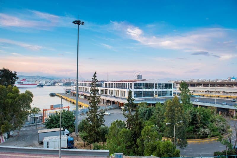 Взгляд порта Пирея стоковые изображения