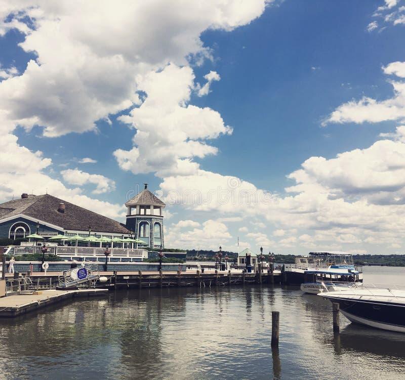 Взгляд портового района что, который нужно сделать в DC стоковая фотография