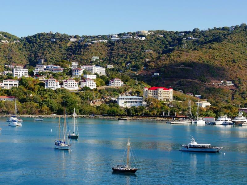 Взгляд портового района St. Thomas стоковая фотография