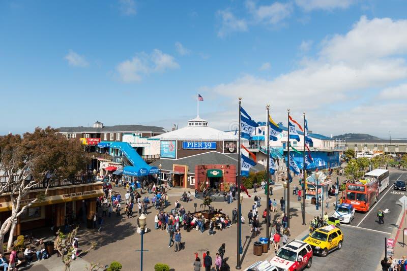 Взгляд пристани 39 на Сан-Франциско, США стоковое фото rf