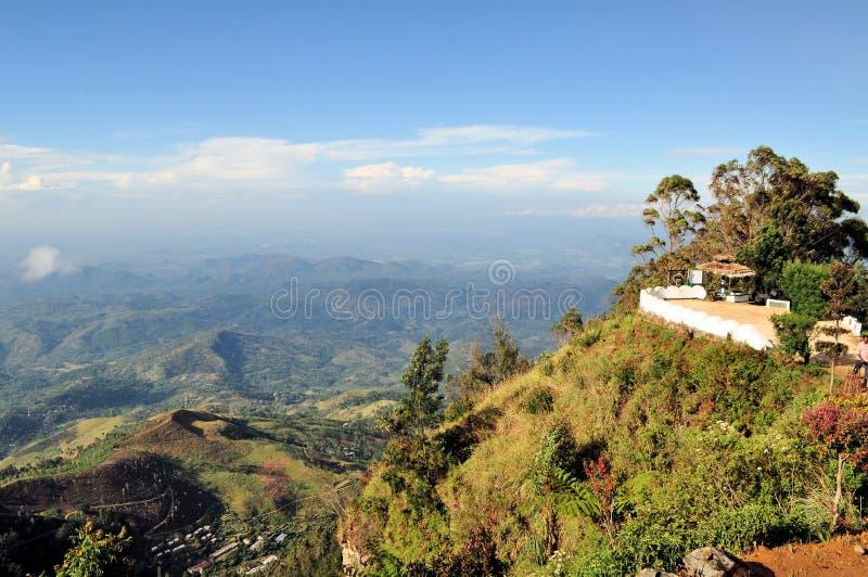 Взгляд плантаций чая, Шри-Ланка места Lipton стоковые фото