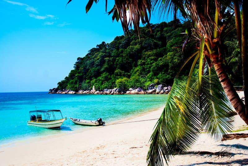 Взгляд пляжа острова Perhentian стоковые изображения