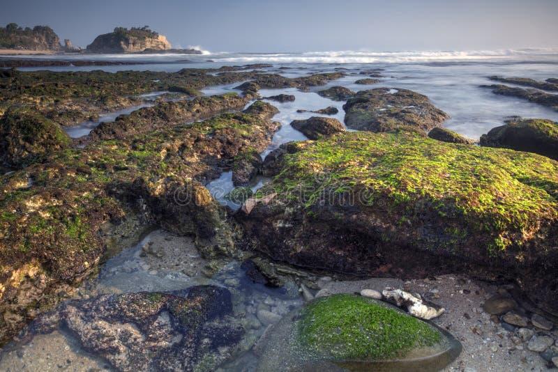Взгляд пляжа Pok Tunggal стоковая фотография