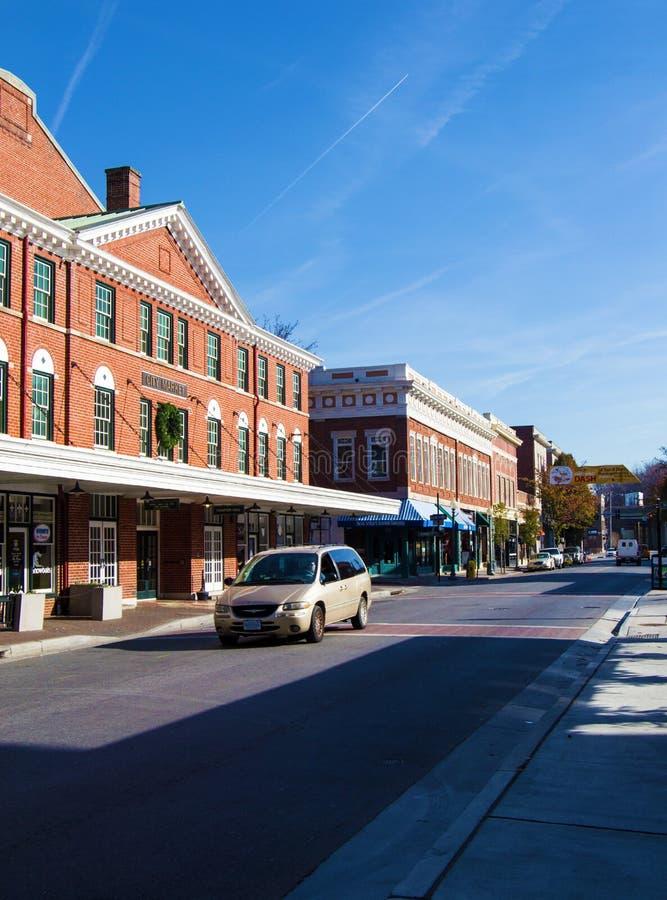 Взгляд района района рынка в Roanoke, Вирджинии, США стоковые фотографии rf