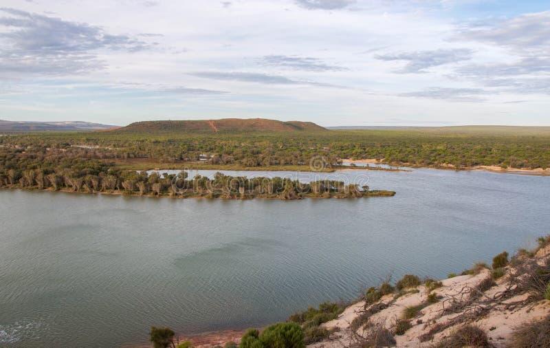 Взгляд реки Murchison стоковые фотографии rf
