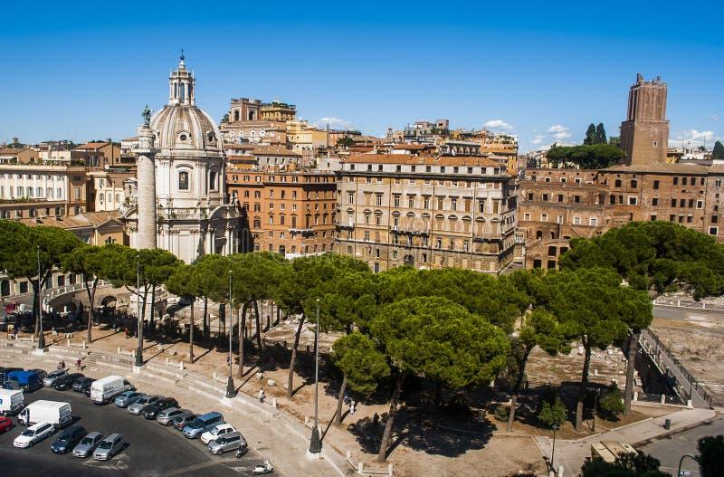 Взгляд Рима от верхней части стоковая фотография