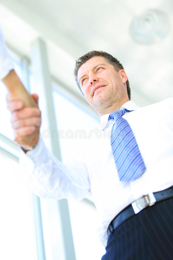 Взгляд рукопожатия нижний Стоковое Фото
