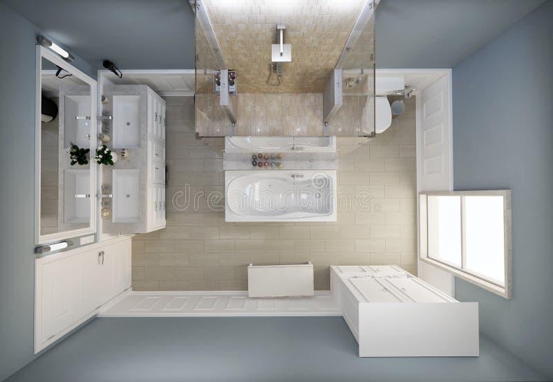 Взгляд сверху ванной комнаты стоковая фотография rf